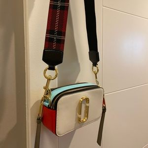 Marc Jacobs small camera bag crossbody tartan